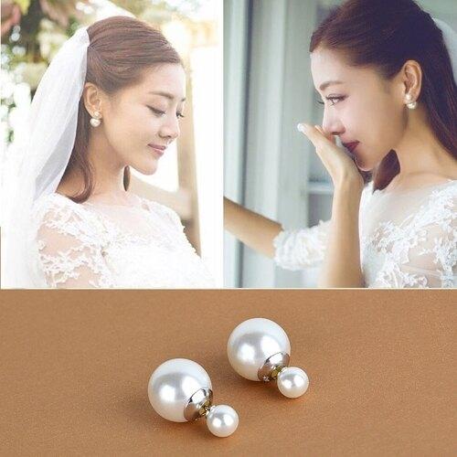 一對正品s925純銀女耳飾 她很漂亮韓劇同款耳釘 送女友閨蜜禮物
