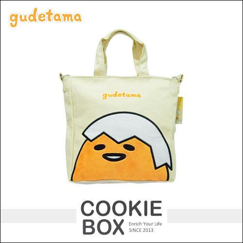 正版 蛋黃哥 方形 兩用包 造型 手提包 手提袋 背帶 肩背 側背 萬用包 外出包 收納 *餅乾盒子*