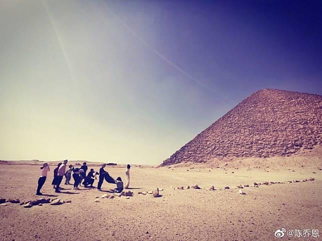 陳喬恩去咗埃及工作。