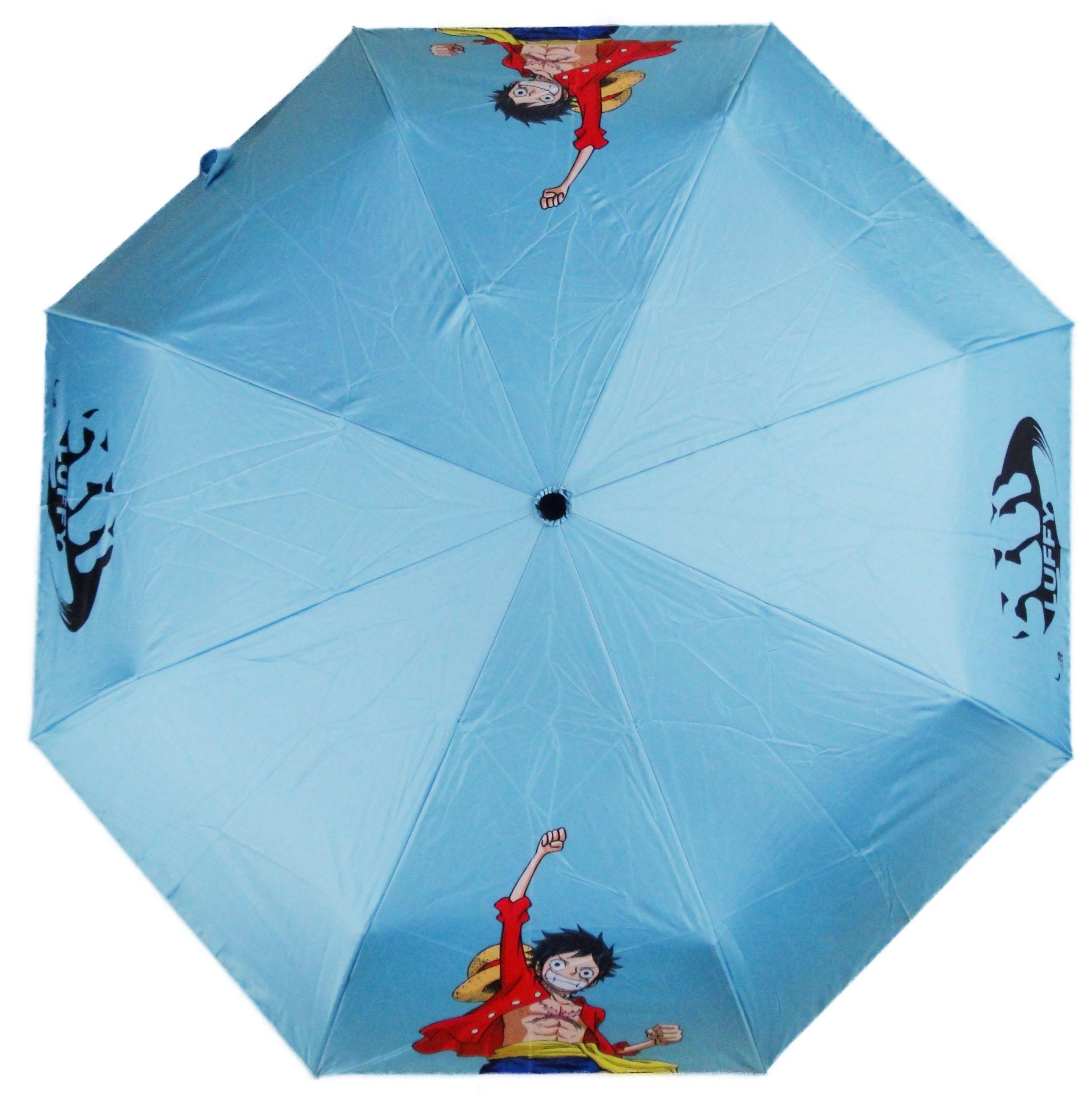 One Piece 航海王 海賊王 魯夫 Luffy 水藍色 自動傘 雨傘 陽傘 晴雨傘