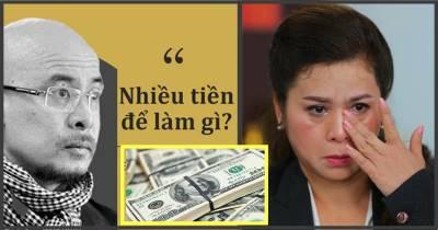 Tiền nhiều để làm gì: gặp bất hạnh đừng đổ tại tiền, tiền không có lỗi, lỗi ở kẻ cầm tiền
