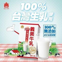 ◎嚴選本土優質牛乳 100%台灣生乳製成 ◎高溫瞬間滅菌 百分之百無添加 ◎天然衛生營養 小瓶裝攜帶方便品牌:義美種類:保久乳/鮮奶外包裝材質:鋁箔包內容物成分:原料-100%生乳成分:非脂肪乳固形物