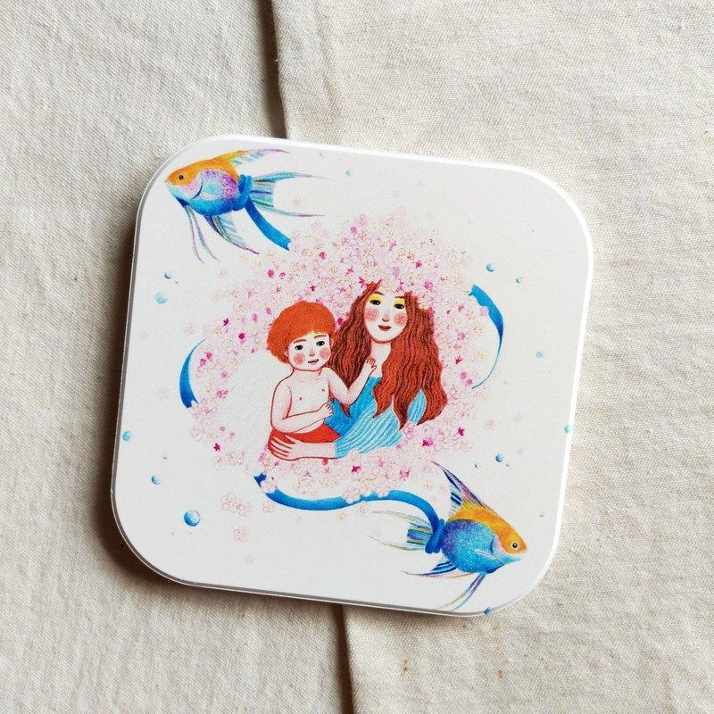 採用台灣鶯歌陶瓷製作而成的吸水杯墊, 方形 9.4 cm.現在訂購還贈送星座月計畫卡一張!