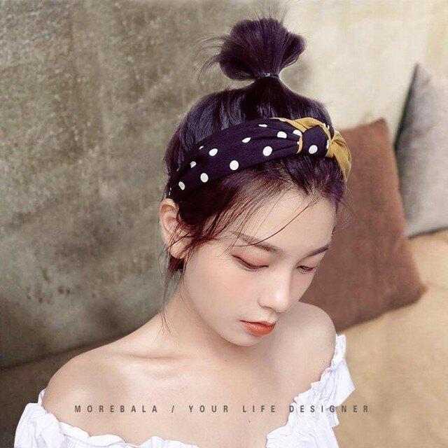 髮箍 頭箍 韓國髮箍女冬季時尚百搭簡約清新氣質短髮波點頭箍洗臉網紅壓髮卡