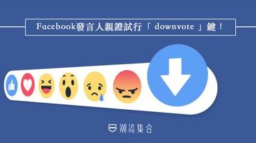facebook發言人親證試行「 downvote 」鍵!用家可投訴專頁的惡意留言!