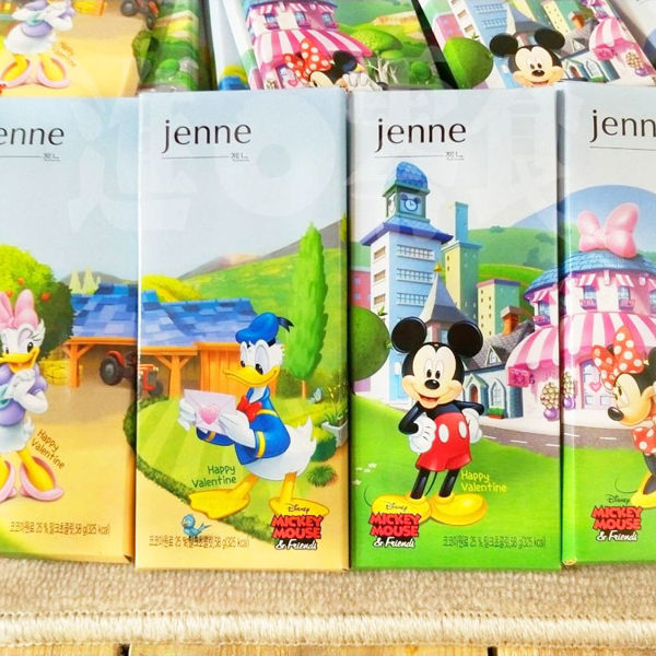 韓國獨家合作! 迪士尼電影的50年經典版! 【HAITAI 】迪士尼 珍妮巧克力 58g*4(一整組4入)