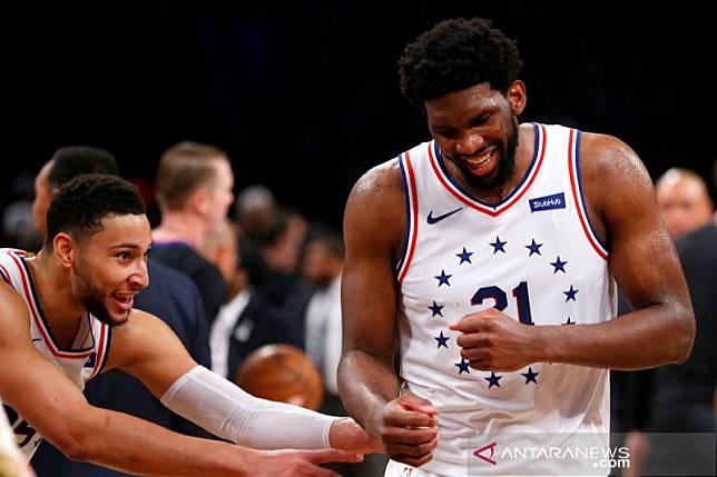 Menang lagi di markas Nets, Sixers perbesar keunggulan 3-1