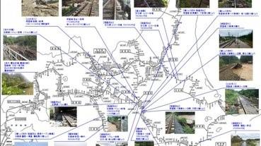 JR北海道的線路遭颱風損毀