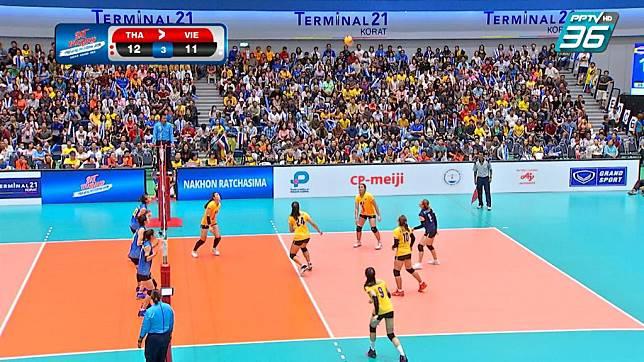 วอลเลย์บอลสาวไทยชนะเวียดนาม แซทวอลเลย์บอล 3-0