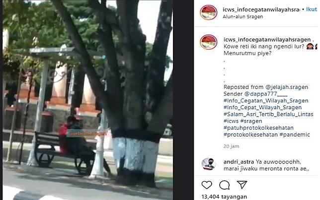 Tangkapan layar unggahan video viral (Foto: Instagram/@@jelajah.sragen)