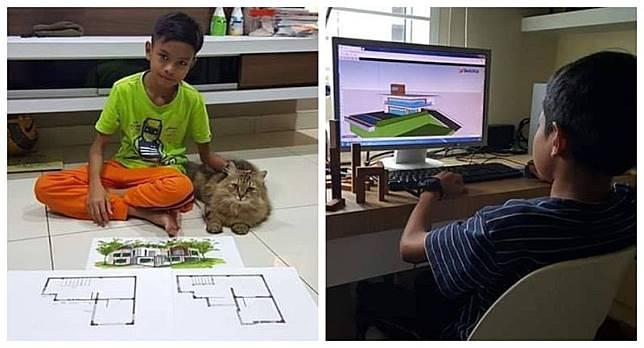 Bocah 12 Tahun Ini Jago Arsitektur, Dia Renovasi Rumahnya Sendiri