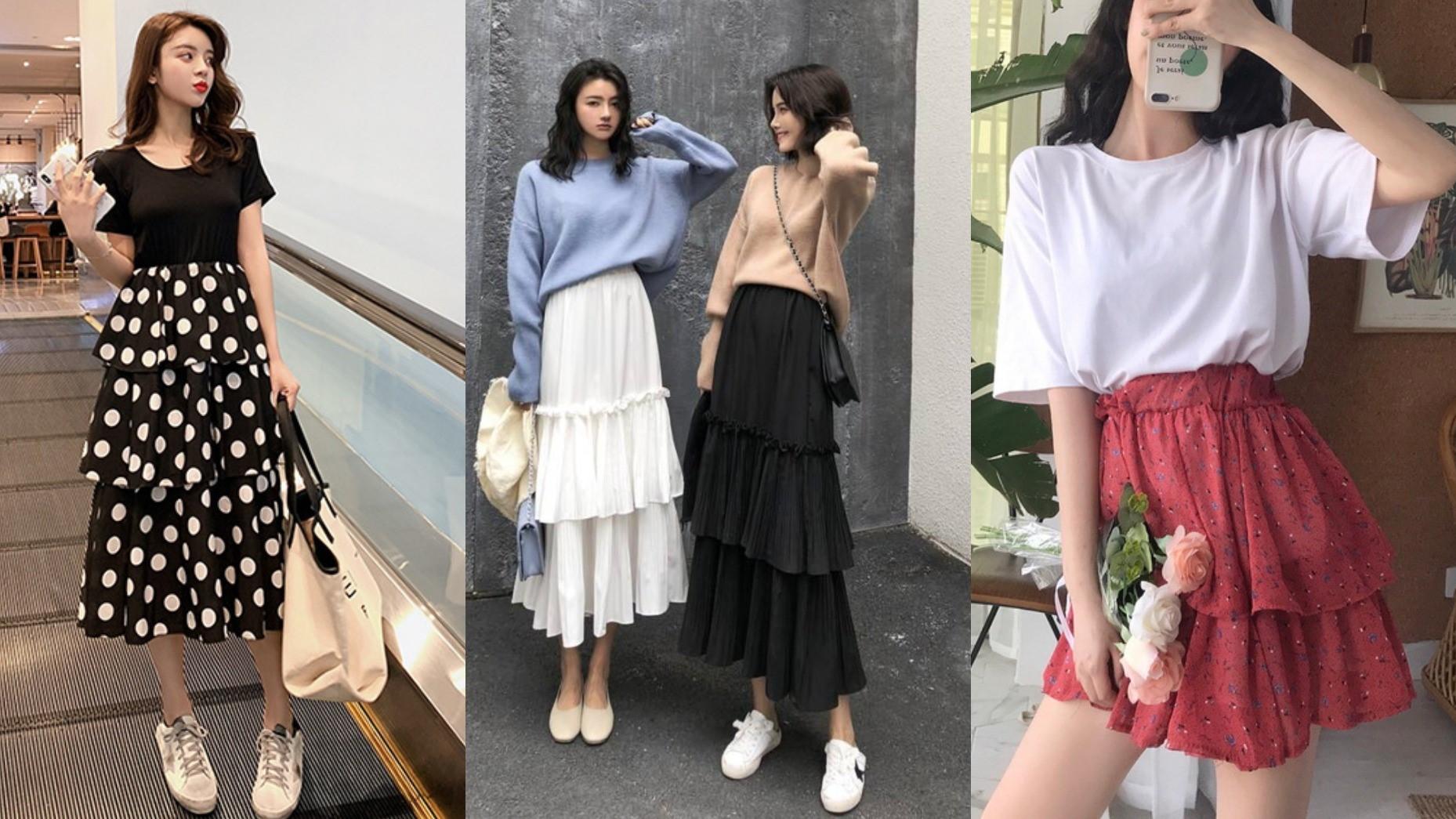 2019韓妞必備時尚蛋糕裙穿搭!過氣蛋糕裙還能穿出時尚氣勢