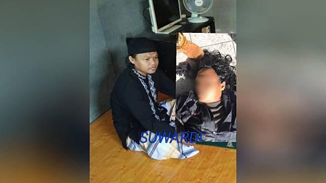 Pelaku terduga teroris di Mapolda Riau. (Foto: Dok. Istimewa)