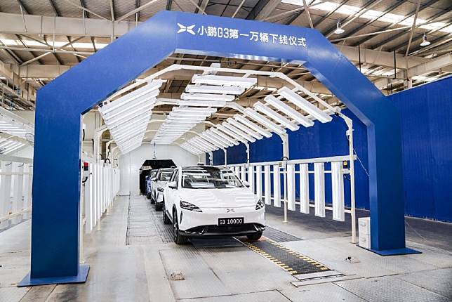 Tesla's Chinese challenger Xpeng rolls out 10,000th SUV as electric vehicles chip away at China's car market