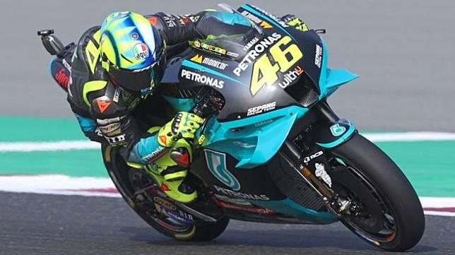 Rider Petronas Yamaha SRT, Valentino Rossi. [KARIM JAAFAR / AFP]