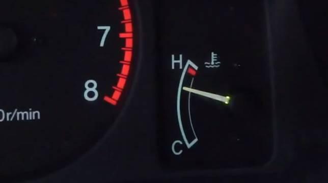 Indikator mesin overheat
