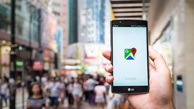 Google Maps di ponsel pintar. [Shutterstock]