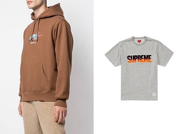 Supreme Cop Car Hooded Sweatshirt、Flame SS Top(互聯網)