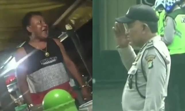 Sempat Ngamuk Hingga Memaki, Polisi Viral yang Tolak Bayar Rp 1000 ke Pedagang Nasi Bebek Dihukum Hormat Bendera