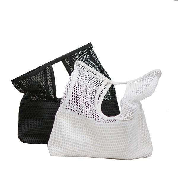 NXS 洞洞手提包 手拿包 包包 購物袋 小包 簍空 網洞 網眼 沙灘包 海灘包 游泳 運動 網紅 韓國