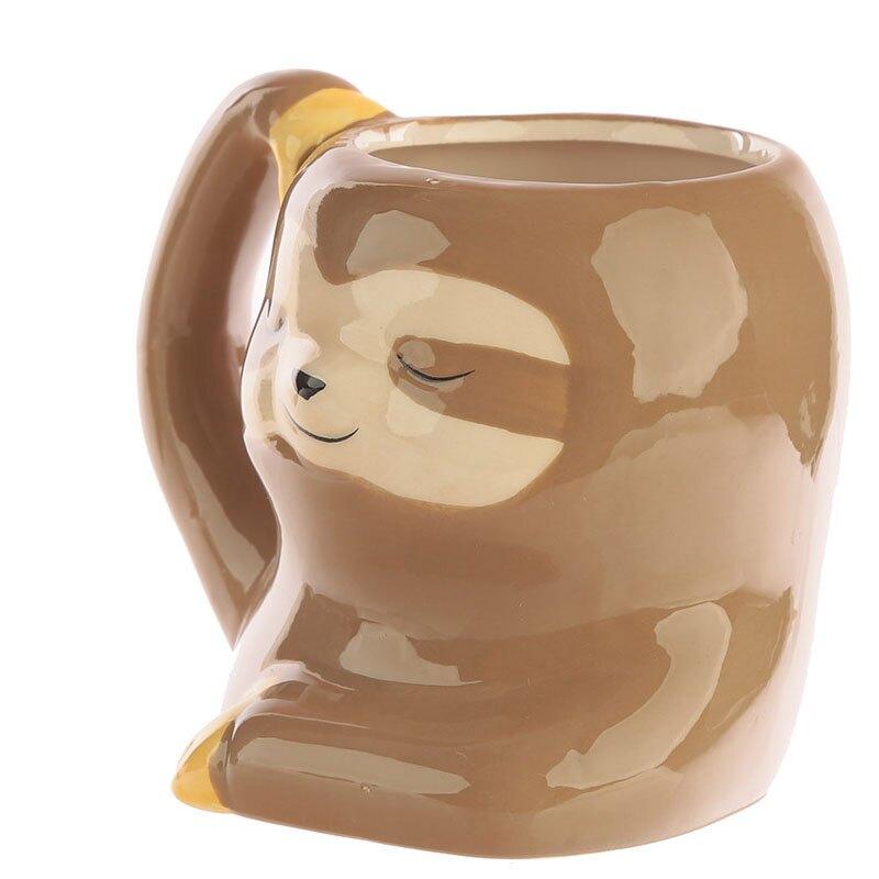 超可愛樹懶陶造型瓷馬克杯彩繪3D立體動物水杯301-400ML 咖啡杯 早餐杯 生日禮物 交換禮物 聖誕禮物