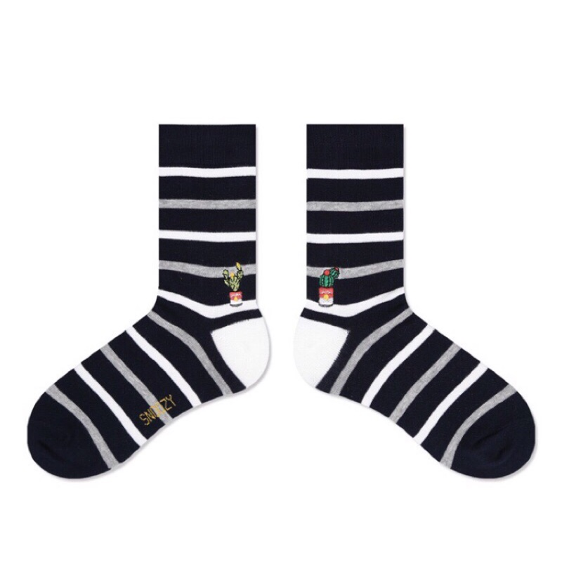 現貨 韓國 SNOOZY 電繡童趣logo襪-仙人掌