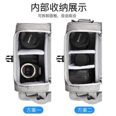 單反相機包女尼康數碼收納包微單袋男鏡頭保護套攝影單肩便攜內膽包m6索尼a6000斜跨m100防水
