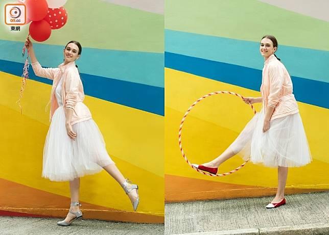 Repetto春夏新作捕捉了馬戲團的奇幻華麗國度,為經典鞋款注入豐富的裝飾意念與色彩元素。(互聯網)