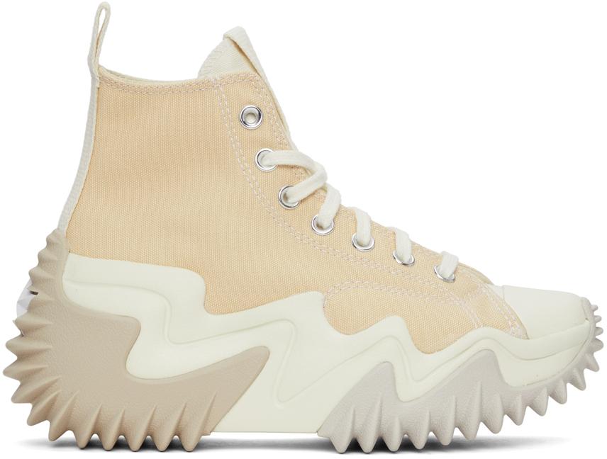 Converse 米色 Run Star Motion 高帮运动鞋