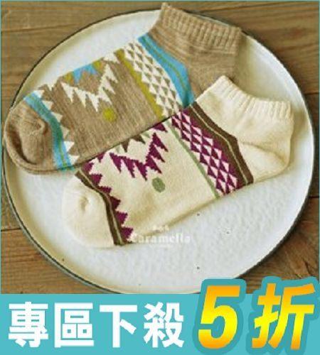 新品男襪 粗針民族風 情侶船襪 顏色隨機發【AF02129】i-Style居家生活