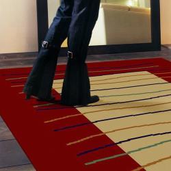 ◎利落線條.加上簡單鮮明的色彩,獨具風格 ◎ ◎品牌:范登伯格類型:地毯主材質:聚丙烯纖維/丙綸材質說明:材質:100%Polypropylene聚丙烯纖維毛高:約6m/m特色:防滑,短毛,抗磨花色圖