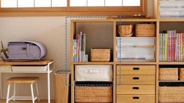 學習用品怎麼收?無印良品收納系列,養成孩子的收拾好習慣