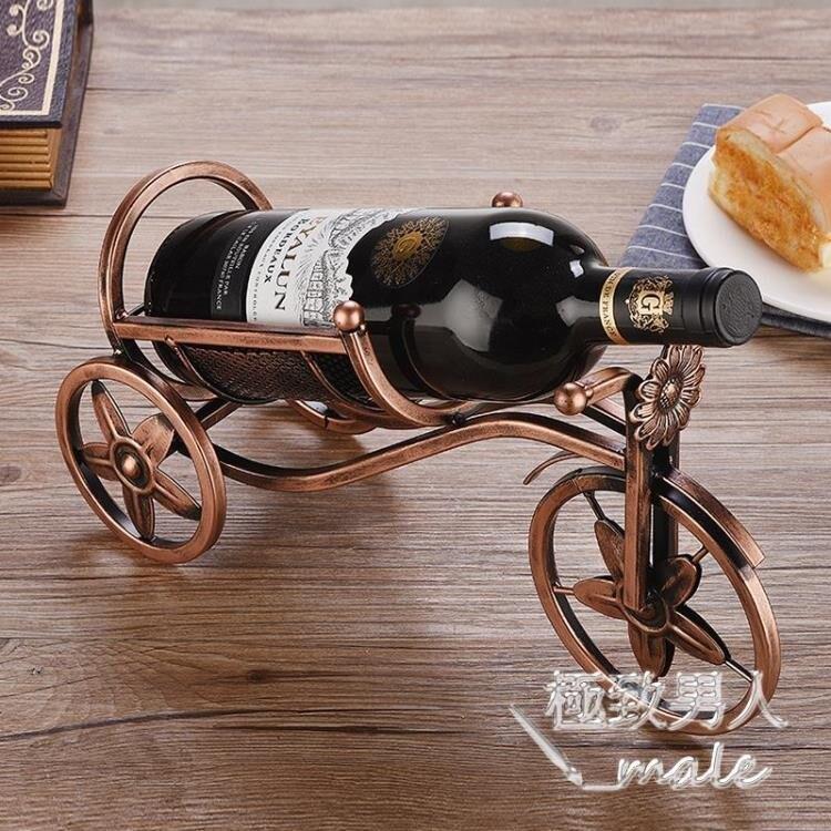 歐式酒瓶架鐵藝家用創意SMY4926《小桃美衣》蝦皮上市《小桃美衣》新品上市