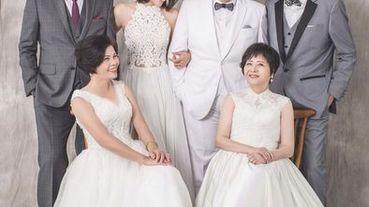 韓國藝匠 結婚四十周年 全家拍婚紗照!首次接觸韓式婚紗攝影的老媽無言但老爸再度戀愛了。原來編輯的逆齡美顏是遺傳來的哈~