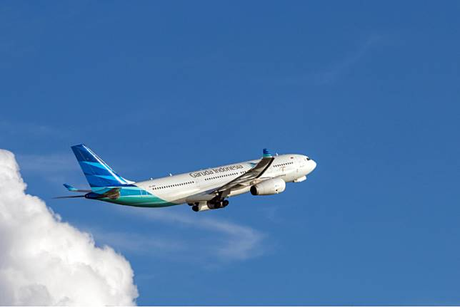 A Garuda Indonesia airplane.