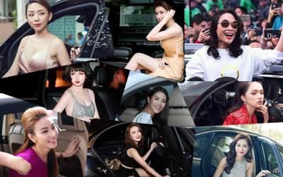 Những khoảnh khắc 'xuất thần' của sao nữ Việt khi đọ dáng bên xe sang tiền tỷ