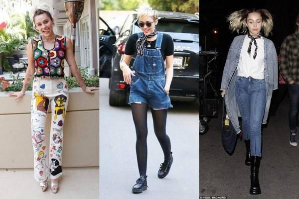 Resmi Menikah, Intip 10 Gaya Fashion Swag sampai Edgy ala Miley Cyrus