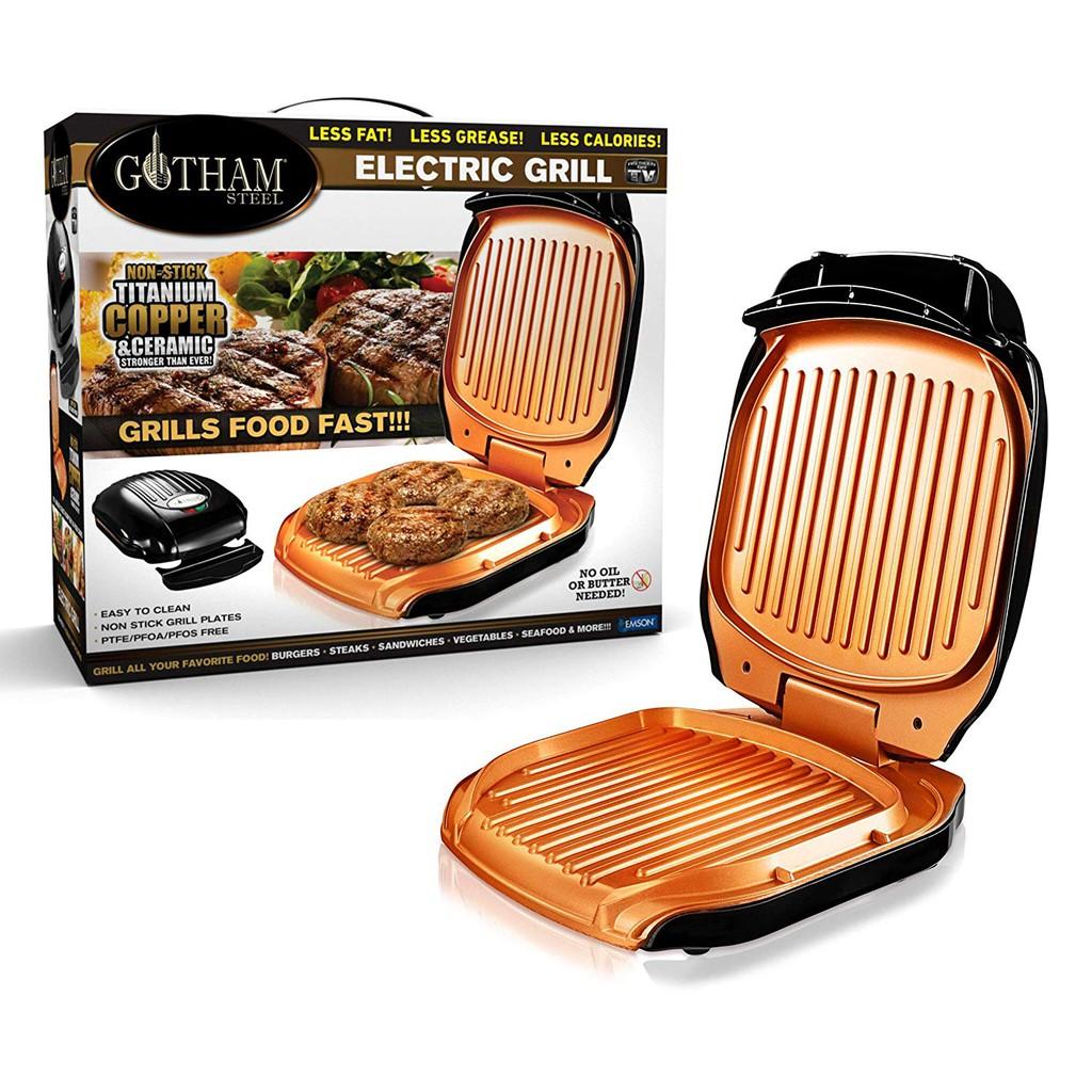 [8美國直購] 三明治燒烤 不沾鍋 Gotham Steel Low Fat Multipurpose Sandwich Grill with Nonstick Copper Coating Goth