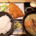 アジフライランチ 2尾 - 実際訪問したユーザーが直接撮影して投稿した代々木魚介・海鮮料理いかの墨 新宿駅南口マインズタワー店の写真のメニュー情報