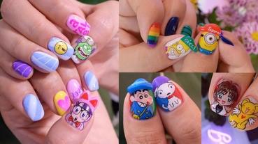 姐的指甲就是畫布!回味經典卡通的韓國童趣指彩超討喜
