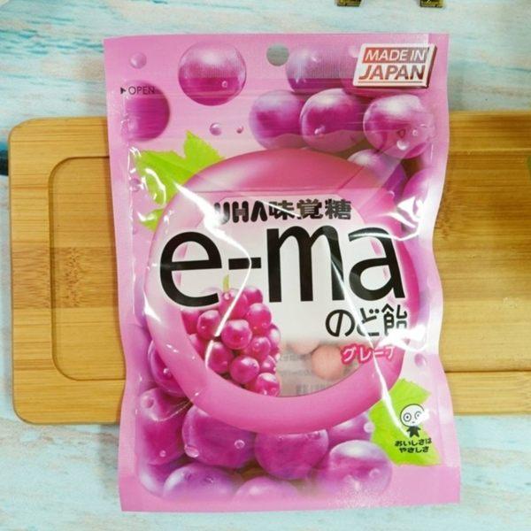味覺糖e-ma喉糖-葡萄味 50g【4514062957388】(日本糖果)