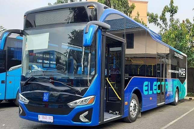 Ilustrasi Bus listrik, buatan PT Mobil Anak Bangsa (MAB)