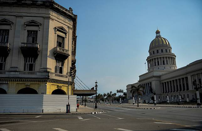 General view of an empty street near the Havana Capitol, on May 19, 2020, due to the COVID-19 coronavirus pandemic.