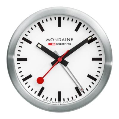 瑞士國家鐵路局SBB指定計時器 具鬧鈴功能 掛鐘/桌鐘兩用 附可拆式鋁合金底座掛 經典設計,展現家居設計品味