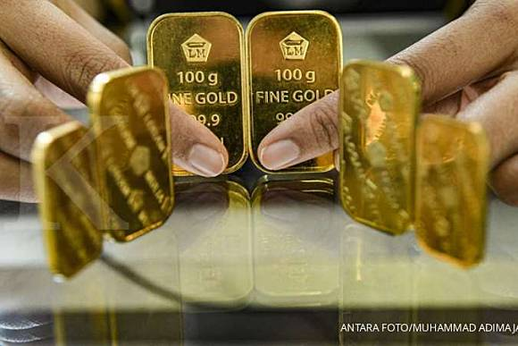 Harga emas 24 karat Antam hari ini stabil Rp 934.000 per ...