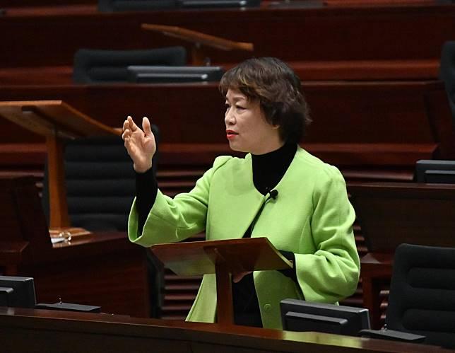 梁美芬表示,立法會大樓在7月1日被破壞,「令全港市民都很痛心」。