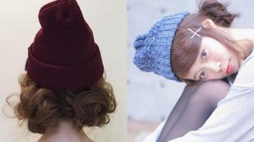 女孩戴毛帽要看起來不邋遢 必搭配上編髮才更顯可愛!