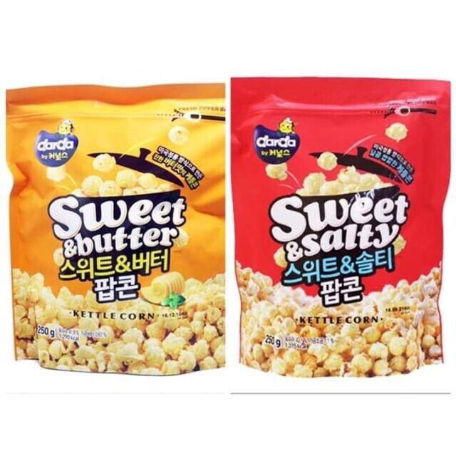 韓國熱銷爆米花 香甜奶油 香味四溢 鹹甜口味 刷嘴不間斷 無論追劇看電影都讓人回味無窮