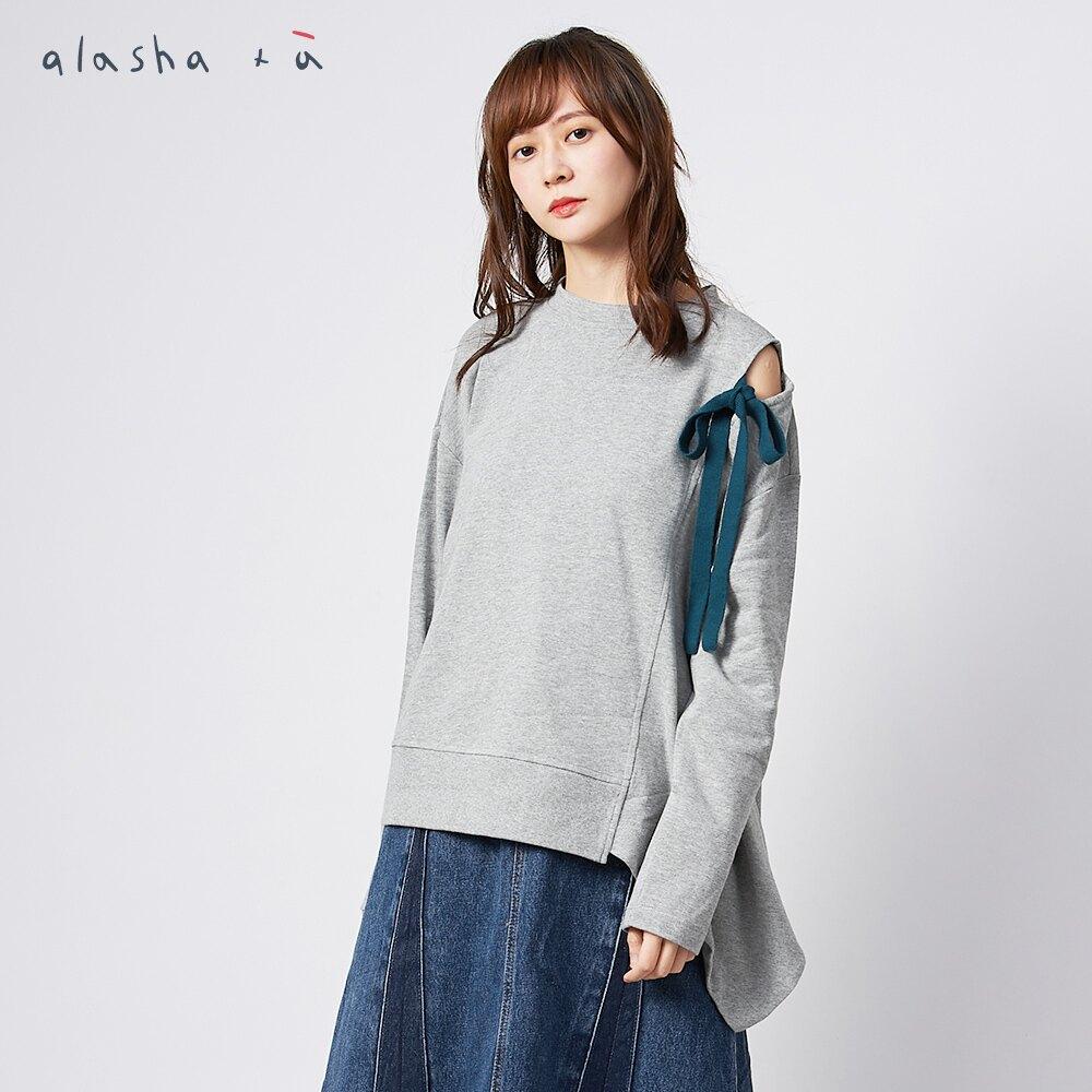 a la sha+a特殊肩綁帶造型下擺上衣