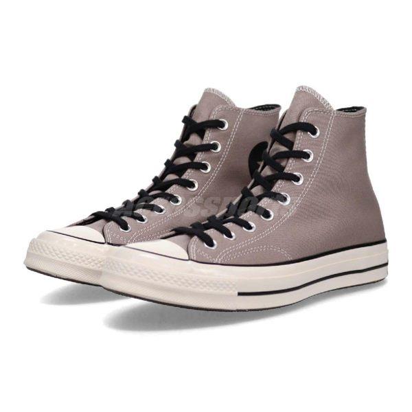 Converse 帆布鞋 Chuck Taylor All Star 70 灰 黑 復古奶油底 高筒 基本款 男鞋 女鞋【PUMP306】 163333C